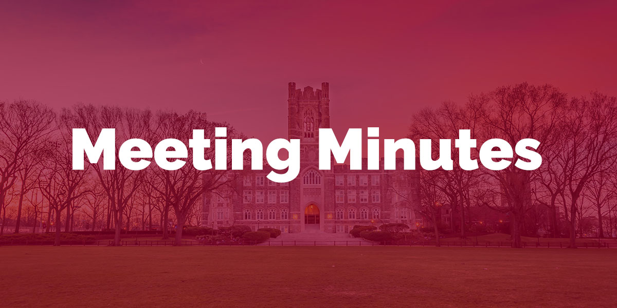 Meeting Minutes | Fordham USG