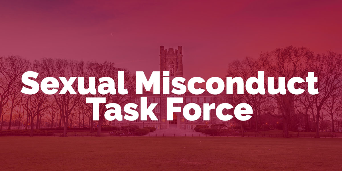 Sexual Misconduct Task Force | Fordham USG